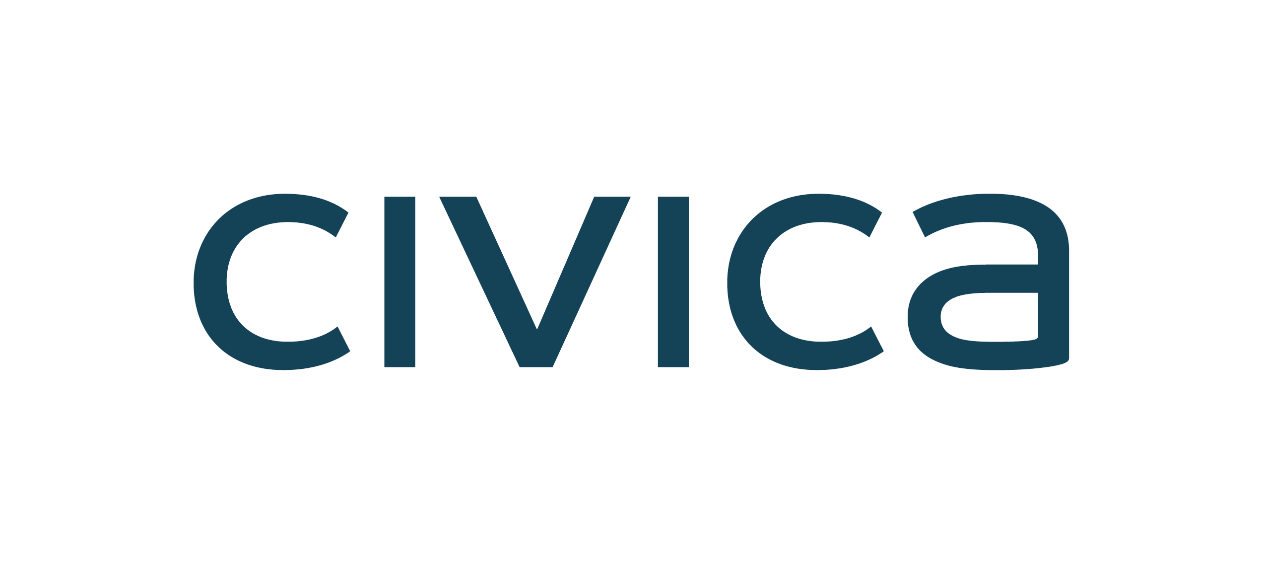 civica logo dark teal no strapline - cmyk